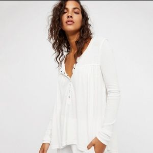 Free People We the Free S Kai white Henley Thermal